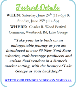 3rd Annual Adirondack Wine Food Festival Official Press Release