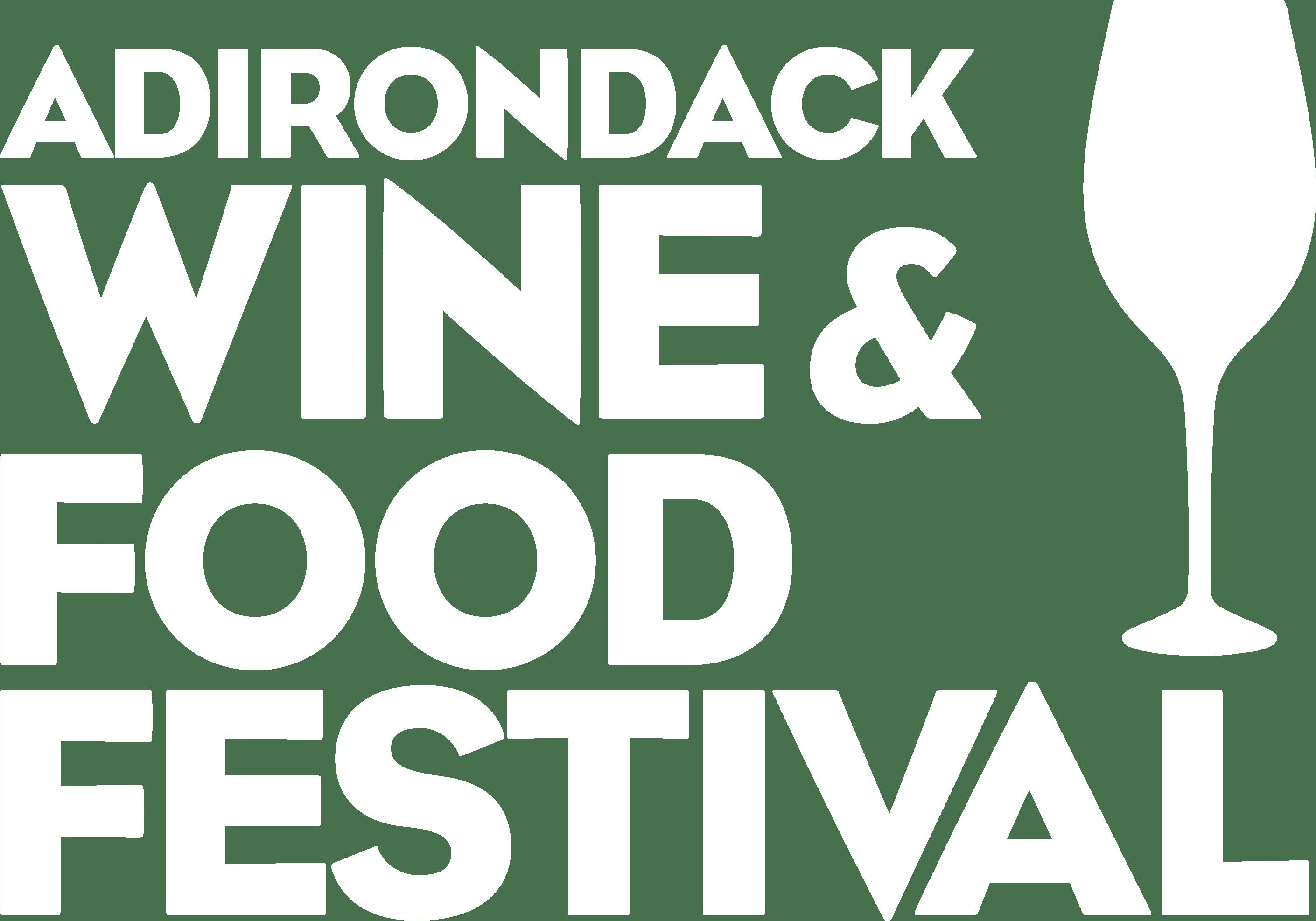 Adk Wine Fest Block White Logo