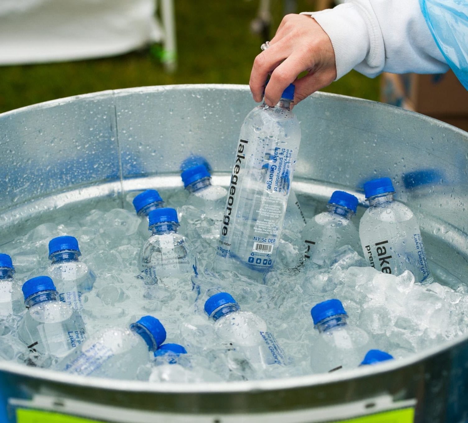 The water generously supplied by Glens Falls National Bank our Official Water Sponsor and want to remind you to ″Drink Responsibly and Hydrate Right.″