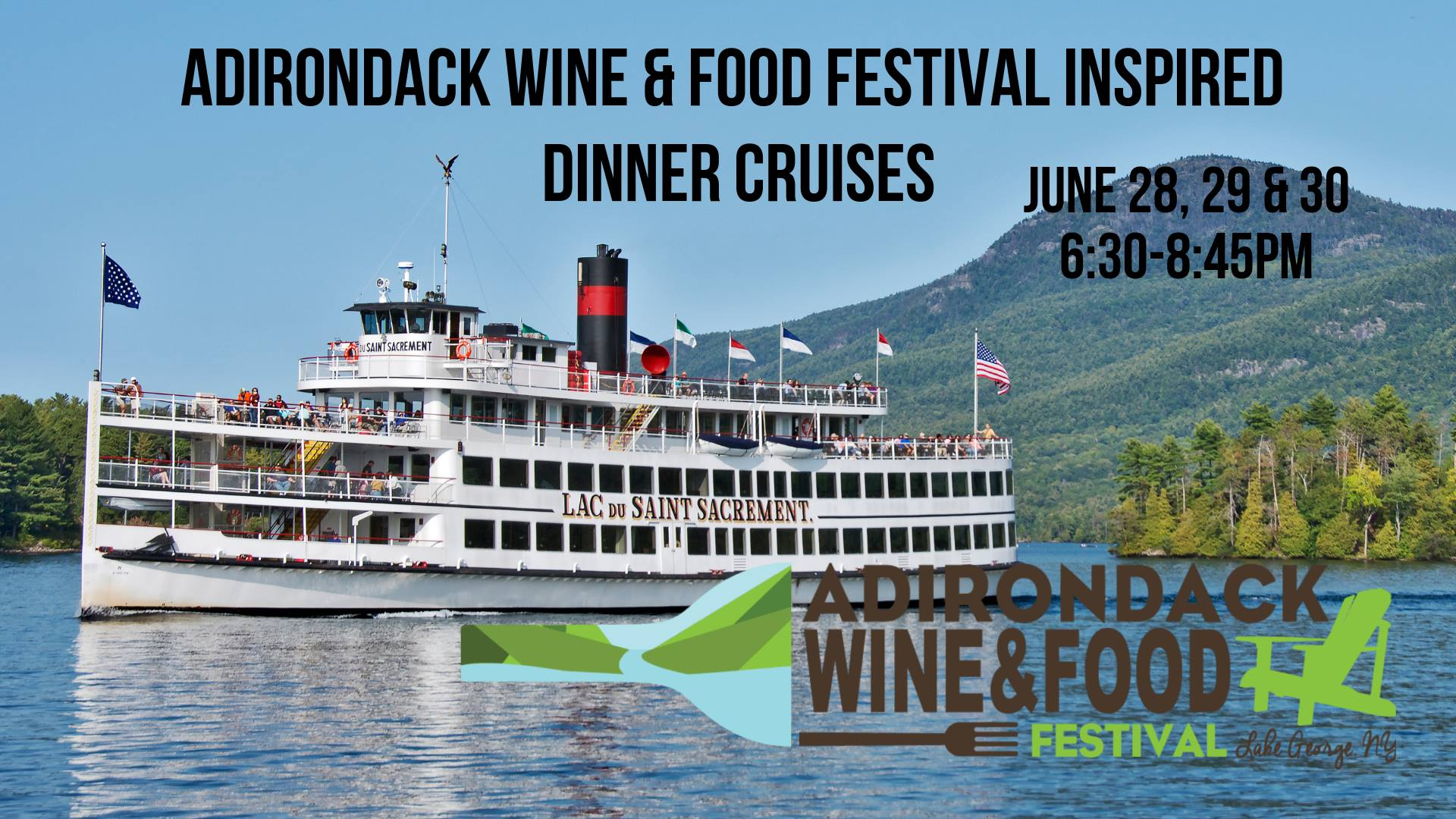 ADK wine and food festival LG steamboat company cruises