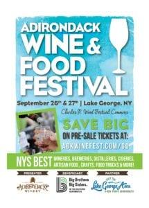 Adirondack Wine & Food Festival 2019 8.5x11 Poster